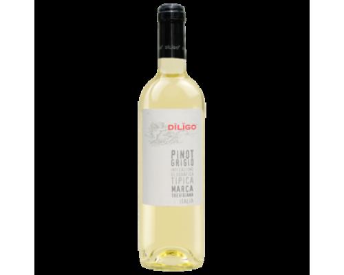 Вино Diligo Pinot Grigio белое сухое 0,75 л