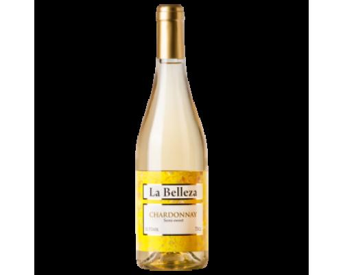 Вино La Belleza Chardonnay белое полусладкое 0,75 л