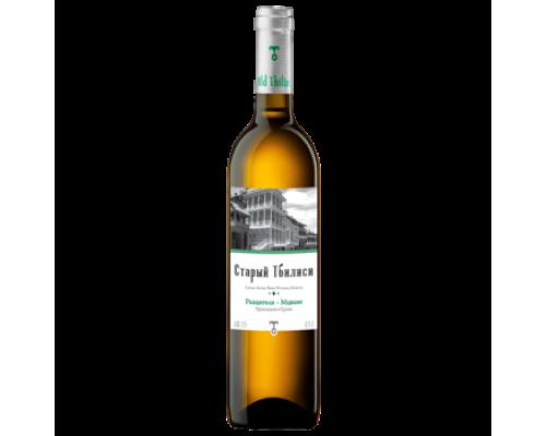 Вино Старый Тбилиси Ркацители-Мцване белое сухое 0,75 л