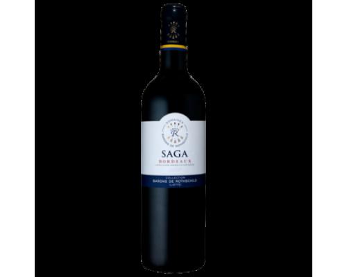 Вино Saga Domaine Barons de Rothschild Bordoux красное сухое 0,75 л