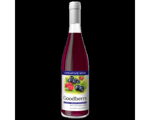 Вино фруктовое Гудбери Клюква с Черной Смородиной сладкое 0,7 л