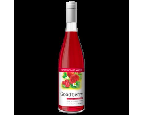 Вино фруктовое Гудбери Клюква с Земляникой сладкое 0,7 л