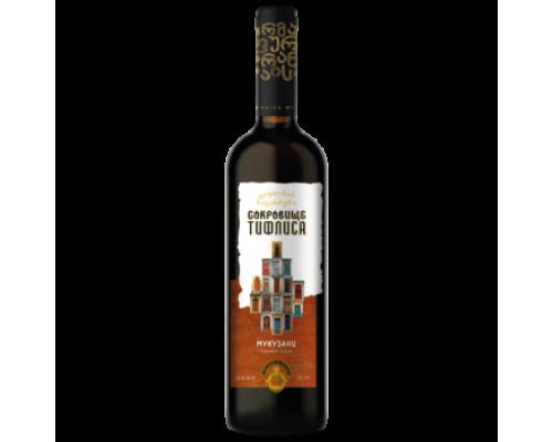 Вино Сокровище Тифлиса Мукузани красное сухое 0,75 л