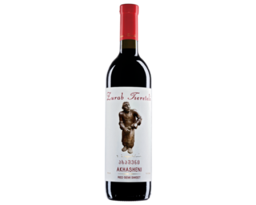 Вино Зураб Церетели Ахашени красное полусладкое 0,75 л