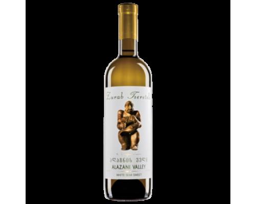 Вино Зураб Церетели Алазанская Долина белое полусладкое 0,75 л