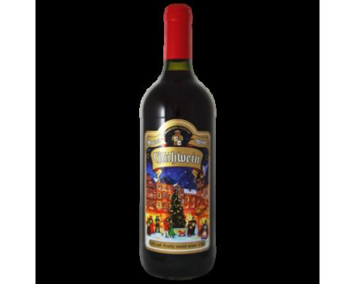 Вино фруктовое Глинтвейн сладкое 1,0 л