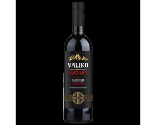 Вино VALIKO Мирели красное полусладкое 0,75 л