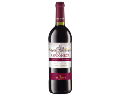 Вино Инкерман Рубик Херсонеса красное сухое 0,75 л