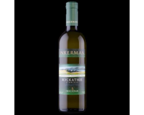 Вино Инкерман Мускатное белое полусладкое 0,7 л