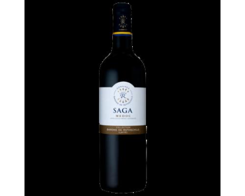 Вино Saga Domaine Barons de Rothschild Medoc, красное сухое 0,75 л