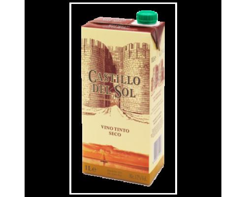 Вино Castillo del Sol красное сухое 1 л