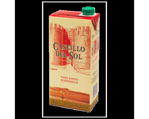 Вино Castillo del Sol красное полусладкое 1 л