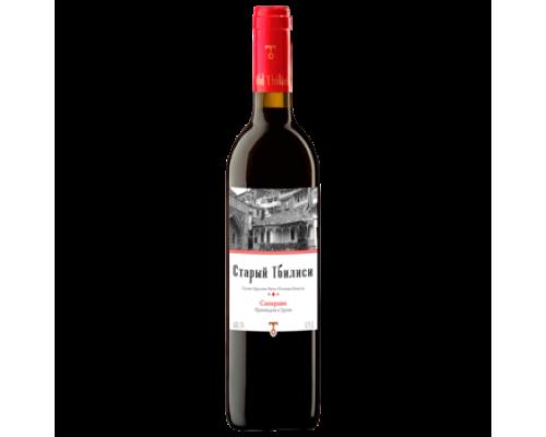 Вино Старый Тбилиси Саперави красное сухое 0,75 л