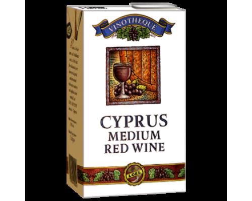 Вино Cyprus красное полусладкое 1л