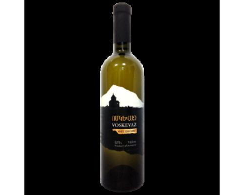 Вино Voskevaz белое полусладкое 0,75 л