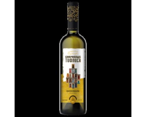 Вино Сокровище Тифлиса Цинандали белое сухое 0,75 л