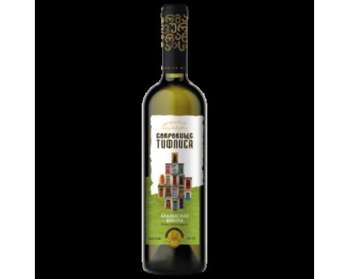 Вино Сокровище Тифлиса Алазанская Долина белое полусладкое 0,75 л