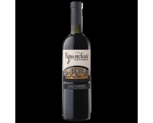 Вино Крымский Погребок Бастардо красное сухое 0,75 л