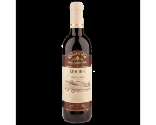 Вино Кубанское традиционное п/сл.кр.1,0