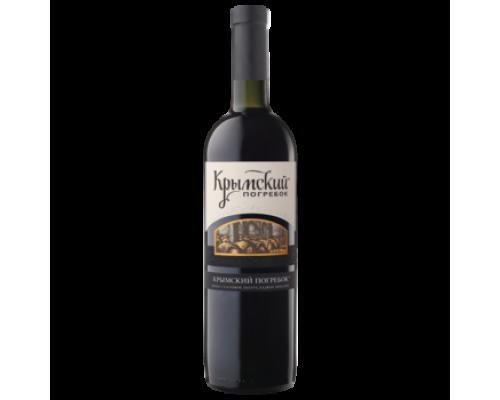 Вино Крымский Погребок красное полусладкое 0,75 л