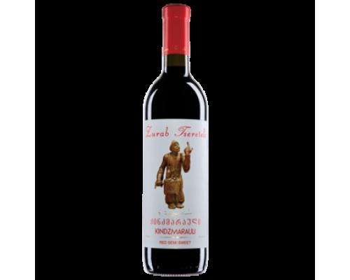 Вино Зураб Церетели Киндзмараули красное полусладкое 0,75 л