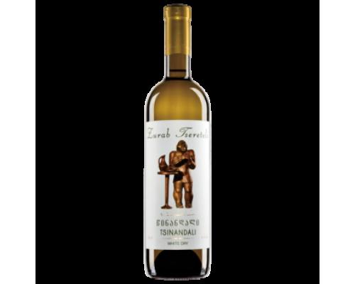 Вино Зураб Церетели Цинандали белое сухое 0,75 л