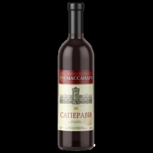 Вино Массандра Саперави красное полусладкое 0,75 л