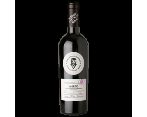 Вино Новое Русское Вино Мерло красное сухое 0,75 л