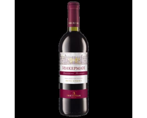 Вино Инкерман красное полусладкое 0,75 л