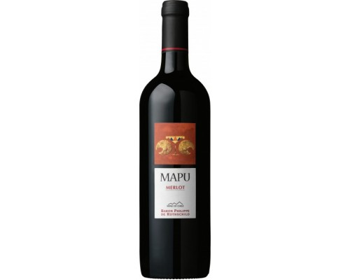 Вино Baron Philippe de Rothschild Mapu Merlot 2013