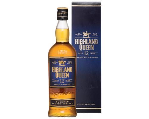Виски Highland Queen 12 Years Old gift box 0.75 л