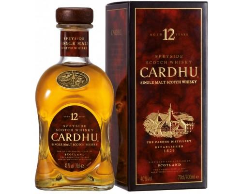 Виски Cardhu 12 Years Old gift box 0.7 л