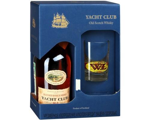 Виски Yacht Club gift box with glass 0.7 л