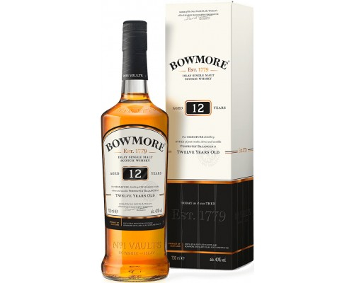 Виски Bowmore 12 Years Old in gift box 0.7 л