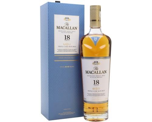Виски Macallan Triple Cask Matured 18 Years Old gift box 0.7 л
