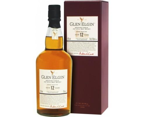 Виски Glen Elgin Malt 12 years old with box 0.7 л