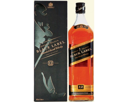 Виски Black Label gift box 1 л
