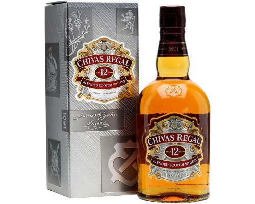 Виски Chivas Regal 12 years old with box 0.7 л