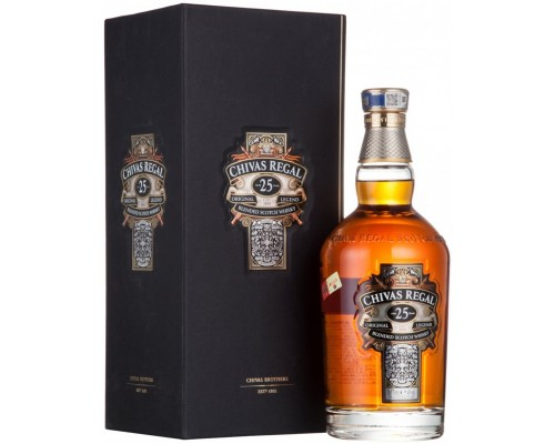 Виски Chivas Regal 25 years old with box 0.7 л