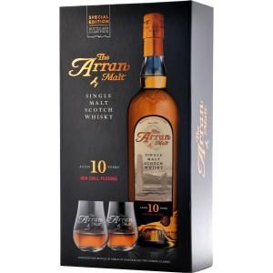 Виски Arran 10 years gift box with 2 glasses 0.7 л