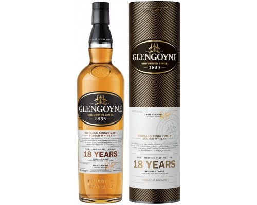 Виски Glengoyne 18 Years Old gift box 0.7 л