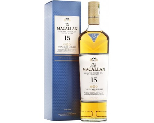 Виски Macallan Triple Cask Matured 15 Years Old gift box 0.7 л