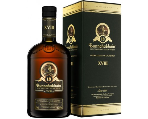 Виски Bunnahabhain aged 18 years gift box 0.7 л