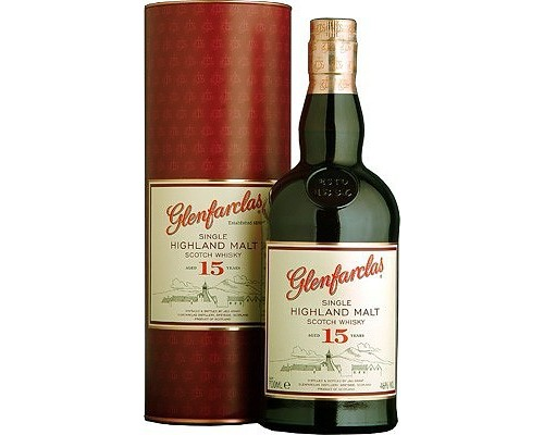 Виски Glenfarclas 15 years in tube 0.7 л
