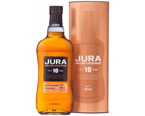 Виски Isle Of Jura 10 Years Old gift box 0.7 л