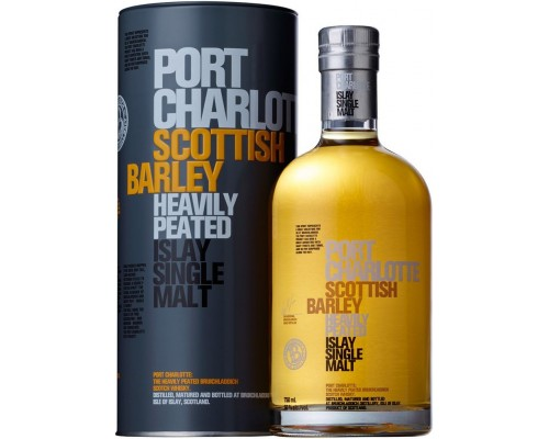 Виски Bruichladdich Port Charlotte Scottish Barley in tube 0.7 л