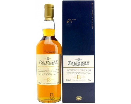 Виски Talisker 18 Years Old gift box 0.7 л