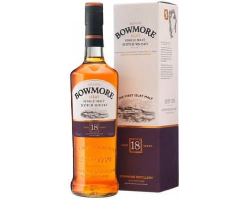 Виски Bowmore 18 Years Old gift box 0.7 л