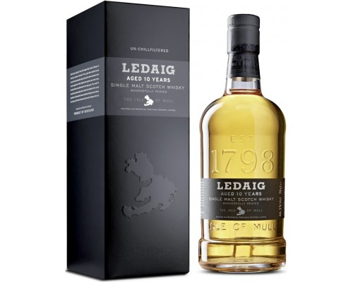 Виски Ledaig Aged 10 Years gift box 0.7 л