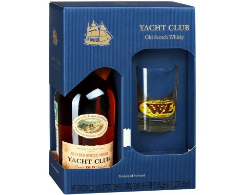 Виски Yacht Club gift box with glass 0.7 л